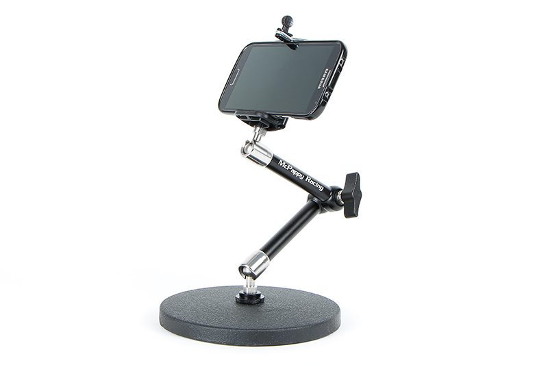 Desktop cell phone holder