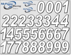 RC Number Decal Sheet